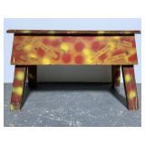 Vintage multi purpose folk art bench
