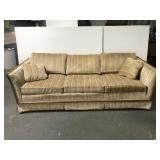 Broyhill striped sofa couch