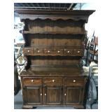 Pinewood kitchen hutch cabinet
