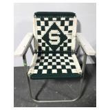 Vintage knit Michigan State MSU lawn chair