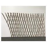 Folding twig gate or garden decor piece