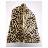 Vintage Berger faux animal fur coat collar scarf