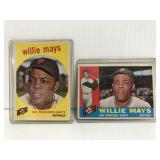 Two old Willie Mays baseball cards
