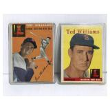 Two old Ted Williams baseball cards