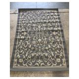 Gray & white Safavieh Courtyard area rug 5 x 7 ft