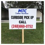 Curbside pick up available