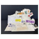 Vintage 1960s-70s US stamp collection & ephemera