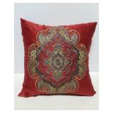 Embroidered decorative pillow
