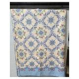 Vintage farmhouse floral quilt blanket