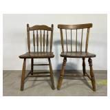 Pair of vintage wooden dining chairs