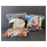 Lot of 3 bags vintage Barbie doll clothing