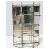 Vintage glass/metal mirrored knickknack shelf