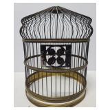 Vintage metal bottomless birdcage decor piece