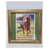 Framed jockey print