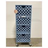 Metal 4-drawer rolling storage organizer cart