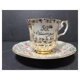 Elizabethan bone china 50th anniversary cup/saucer
