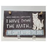 Funny cat math sign