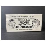Vintage one-a-day people re-charger