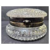 Cutglass silver etched Helena trinket box