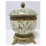 Antique Asian inspired lidded pot