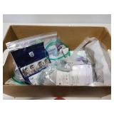 Assortment of CPAP and medical supplies