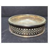 Wallace silverplate and glass dish
