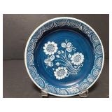 Signed and painted decorative plate