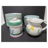 Handpainted Caleca named dishes
