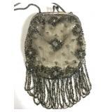 Vintage silk beaded purse