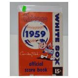 1959 Chicago White Sox score book