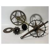 Lot of vintage metal gears