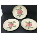 Three farmhouse country Apple 9.5 inch plates