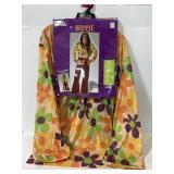 New instant hippie adult costume