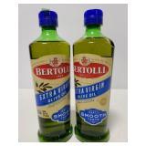 Two Bertolli Extra virgin olive oil smooth taste