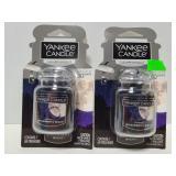 Two new Yankee candle car air fresheners