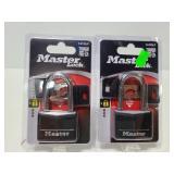 Two new Master Locks w/ 2 keys each