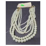 A New Day multi strand pearl necklace