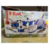T-fall simply cook ceramic blue cookware set