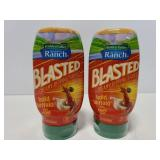 Two Blasted sauce bold buffalo best by may 2020