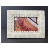Opal House scalloped shell photo frame
