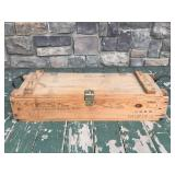 Cannon mortar explosives wooden box crate