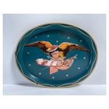 Vintage American eagle emblem painted tray
