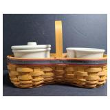 Longaberger handwoven basket