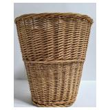 Wicker waste basket