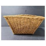 Basket of flatware In wicker basket