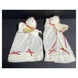 Pair of civil war handkerchief dolls