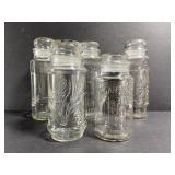 Lot of 5 glass planters peanut jars