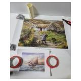 Two signed Philip gray art prints
