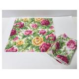 Set of 6 floral rose cloth napkins