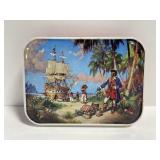 Vintage blue bird confectioners pirate candy tin